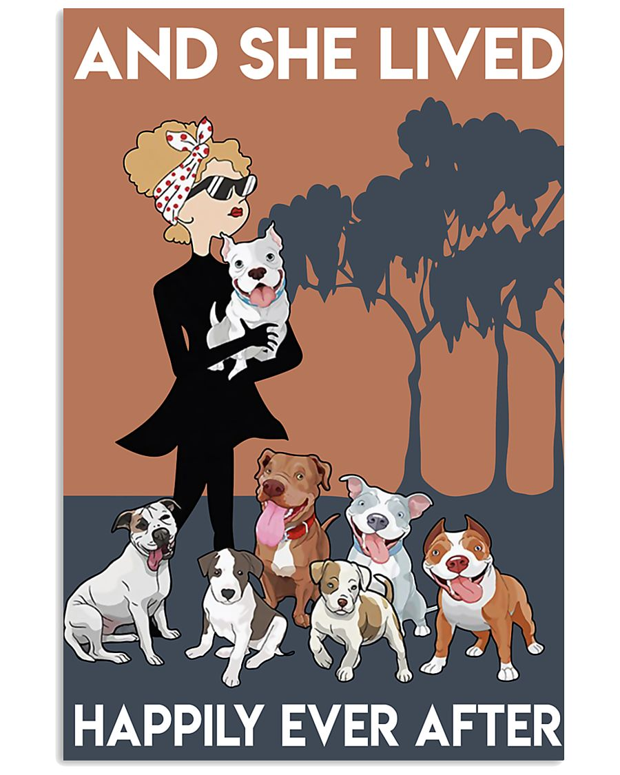 Pitbull She Lived Happily 11x17 Poster