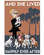 Pitbull She Lived Happily 11x17 Poster front
