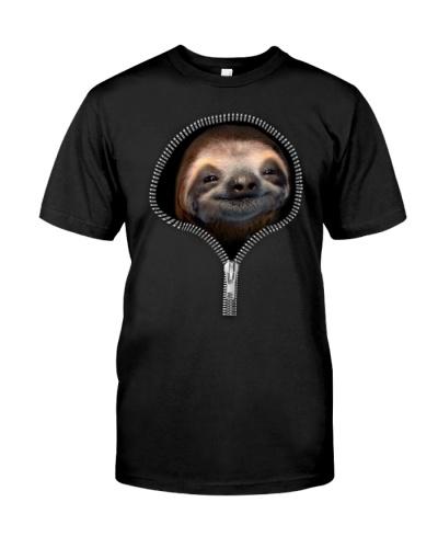 sloth zipper shirt
