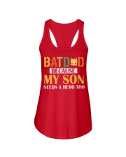 Batdad Because My Son Needs A Hero Too Ladies Flowy Tank thumbnail