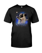 Pug Titanic Funny Classic T-Shirt front