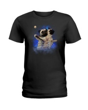 Pug Titanic Funny Ladies T-Shirt thumbnail