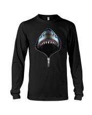 shark zipper shirts Long Sleeve Tee thumbnail