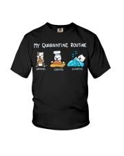 My Quarantine Routine pitbull3 Youth T-Shirt thumbnail