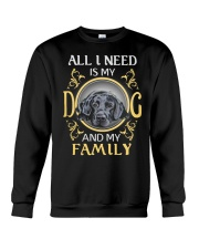 All L Need Is My And My Family labrador Crewneck Sweatshirt thumbnail