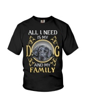 All L Need Is My And My Family labrador Youth T-Shirt thumbnail