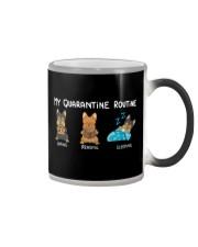 My Quarantine Routine Yorkie3 Color Changing Mug thumbnail