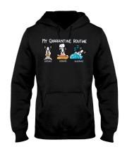 My Quarantine Routine boston2 Hooded Sweatshirt thumbnail