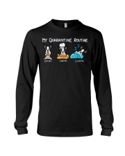 My Quarantine Routine boston2 Long Sleeve Tee thumbnail