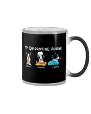 My Quarantine Routine boston2 Color Changing Mug thumbnail