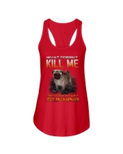 What doesn't kill me retter start running pug kill Ladies Flowy Tank thumbnail
