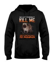 What doesn't kill me retter start running pug kill Hooded Sweatshirt thumbnail