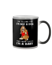 I'm Telling You I'M Not A Dog My Mom basset hound Color Changing Mug thumbnail