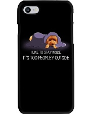 I Like To Stay Inside It'S Too Peopley poodle 2 Phone Case thumbnail