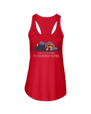 I Like To Stay Inside It'S Too Peopley poodle 2 Ladies Flowy Tank thumbnail