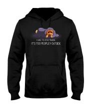 I Like To Stay Inside It'S Too Peopley poodle 2 Hooded Sweatshirt thumbnail