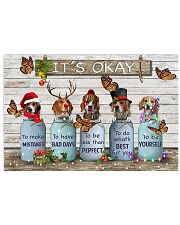 Beagles christmas 17x11 Poster front