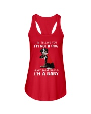 Bernese Mountain I'm Telling You I'm Not A Dog Ladies Flowy Tank thumbnail