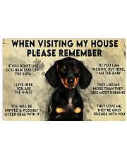 Dachshund When Visiting My House Please Remember Poster Wall Art Prints 17x11 Poster front