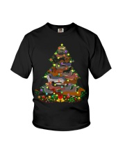 Dachshund T-shirt Christmas gift for friend Youth T-Shirt thumbnail