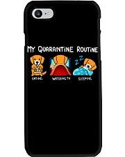 My Quarantine Routine Golden Retriever4 Phone Case thumbnail