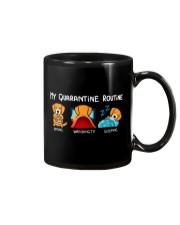 My Quarantine Routine Golden Retriever4 Mug thumbnail