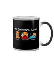 My Quarantine Routine Golden Retriever4 Color Changing Mug thumbnail