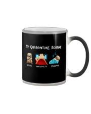 My Quarntine Routine pug2 Color Changing Mug thumbnail
