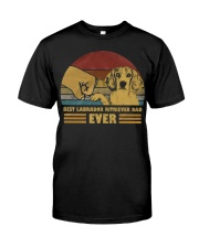 Best Labrador Ritriever Dad Ever Classic T-Shirt front