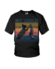 Frenchie high five Youth T-Shirt thumbnail