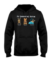 My Quarantine Routine Yorkie3 Hooded Sweatshirt thumbnail