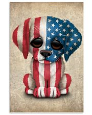 Puppy American Flag 4th Of July Gift Ideas 11x17 Poster front