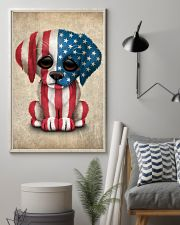 Puppy American Flag 4th Of July Gift Ideas 11x17 Poster lifestyle-poster-1
