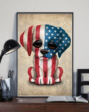 Puppy American Flag 4th Of July Gift Ideas 11x17 Poster lifestyle-poster-2