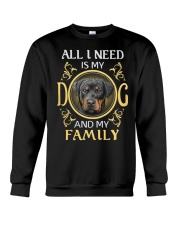 All L Need Is My And My Family rottweiler Crewneck Sweatshirt thumbnail