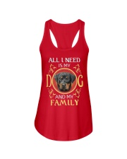 All L Need Is My And My Family rottweiler Ladies Flowy Tank thumbnail