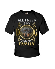 All L Need Is My And My Family rottweiler Youth T-Shirt thumbnail