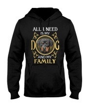 All L Need Is My And My Family rottweiler Hooded Sweatshirt thumbnail