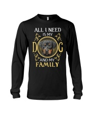 All L Need Is My And My Family rottweiler Long Sleeve Tee thumbnail