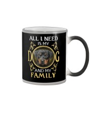 All L Need Is My And My Family rottweiler Color Changing Mug thumbnail