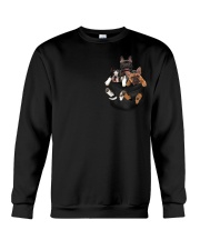 Frenchie pocket T-shirt gift for friend Crewneck Sweatshirt thumbnail
