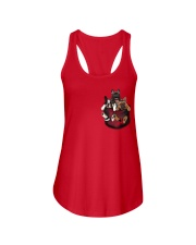 Frenchie pocket T-shirt gift for friend Ladies Flowy Tank thumbnail