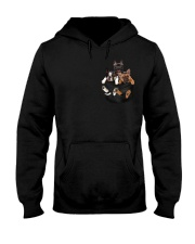 Frenchie pocket T-shirt gift for friend Hooded Sweatshirt thumbnail