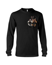 Frenchie pocket T-shirt gift for friend Long Sleeve Tee thumbnail