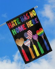 """BLM Hate Has No Home Here LGBTQ Gifts 11.5""""x17.5"""" Garden Flag aos-garden-flag-11-5-x-17-5-lifestyle-front-16"""
