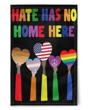 """BLM Hate Has No Home Here LGBTQ Gifts 11.5""""x17.5"""" Garden Flag front"""