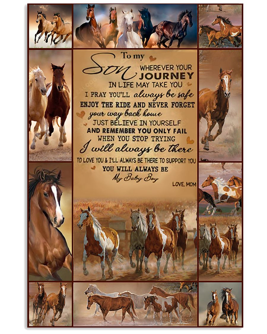 horse text tranh edition 11x17 Poster
