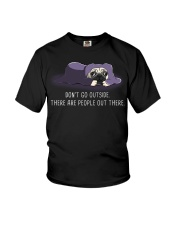 Don'T Go outside There Are People pug 1 Youth T-Shirt tile