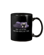 Don'T Go outside There Are People pug 1 Mug tile