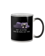 Don'T Go outside There Are People pug 1 Color Changing Mug thumbnail